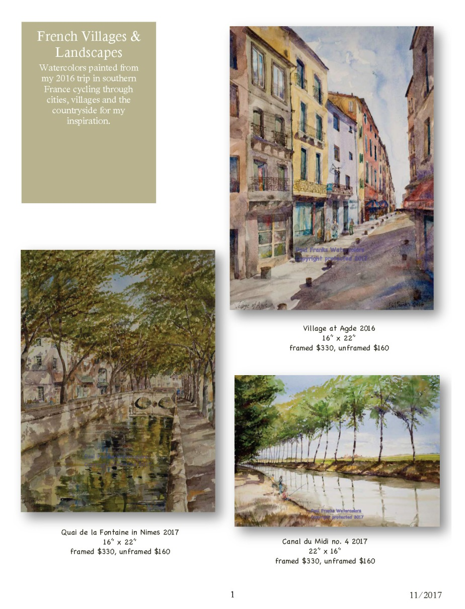 Paul Franks Watercolor Catalog-2 French Landscapes_Page_1