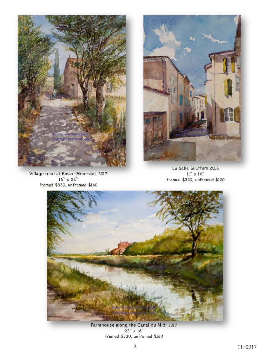 Paul Franks Watercolor Catalog-2 French Landscapes_Page_2